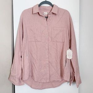 🍂 New! Altar'd State Pink Flannel Button Down Top